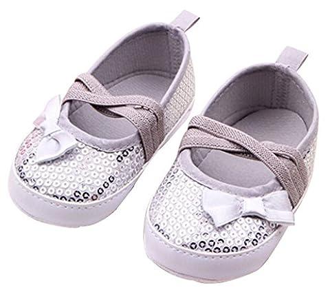 Fairy Season Toddler Infant Prewalker Sequin Bowknot Sneaker PU Lace