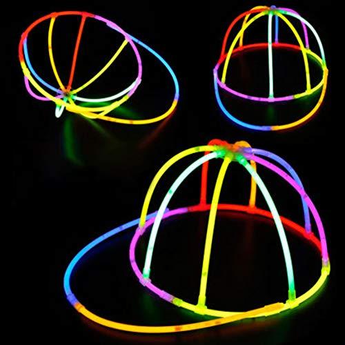 mAjglgE Hohler fluoreszierender Hut DIY Glow Stick Cap Party Favor Kinder Geschenk Festival Rep - zufällige Farbe (Diy Stick Glow)
