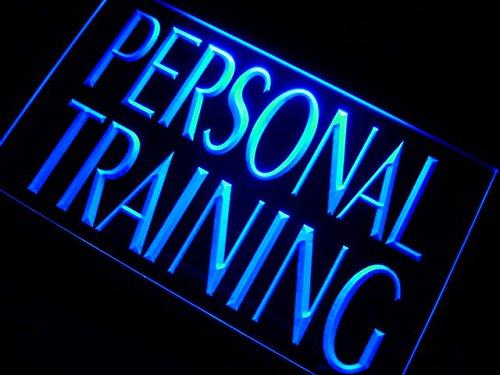 Neon-trainer (ADVPRO m111-b Personal Training Gym Trainer Neon Light Sign Barlicht Neonlicht Lichtwerbung)