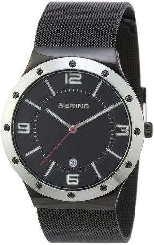 Bering Time - 12739-202 - Montre Homme - Quartz Analogique - Bracelet Acier Inoxydable Noir