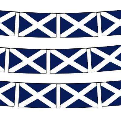 Scotland-Bandierine in tessuto, 9 m, bandierine da 30
