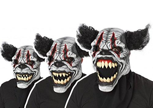 Ani-Motion Halloween Maske schwarz-weiss-rot Einheitsgröße (Bewegt Den Mund Maske)