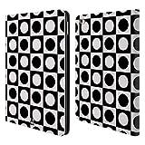 Head Case Designs Punkte Schwarz-Weiss Muster Brieftasche Handyhülle aus Leder für iPad Air 2 (2014)