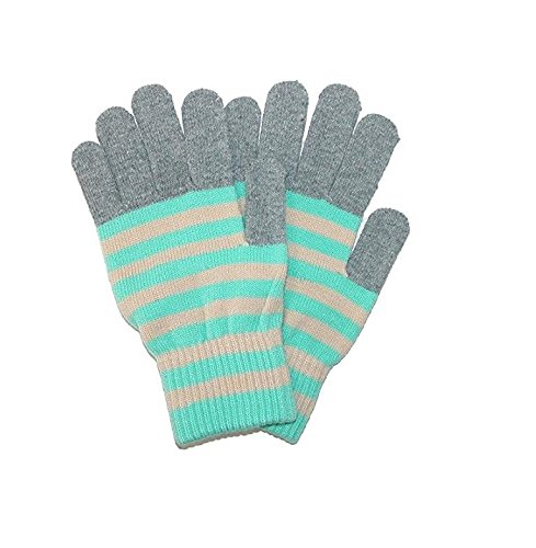 Romano Striped Winter Wool Knit Hand Gloves for Women
