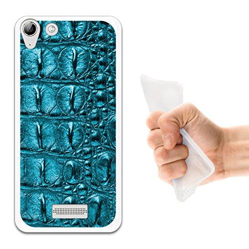 WoowCase Wiko Selfy 4G Hülle, Handyhülle Silikon für [ Wiko Selfy 4G ] Tier Haut des blauen krokodil Handytasche Handy Cover Case Schutzhülle Flexible TPU - Transparent