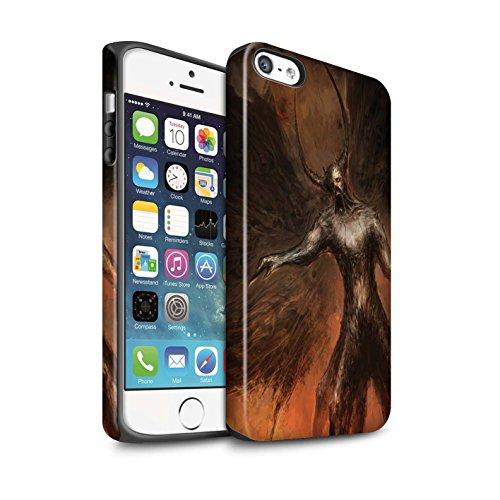 Offiziell Chris Cold Hülle / Matte Harten Stoßfest Case für Apple iPhone 5/5S / Pack 10pcs Muster / Dunkle Kunst Dämon Kollektion Schwarzen Flügeln