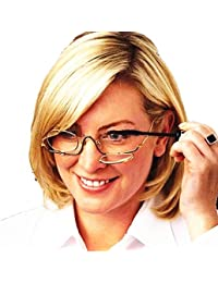 Charites gafas de lupa de maquillaje Flip Up lente + Case (2,5 x ampliación)