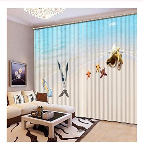WKJHDFGB Vorhänge Benutzerdefinierte 3D Blackout Vorhänge Surf The Beach Wohnzimmer Vorhänge Moderne Vorhänge Küchenfenster 215X320Cm