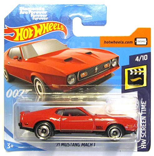 Hot Wheels FYC92 - 1971 Ford Mustang Mach 1 rot James Bond ( HW Screen Time 4/10) - Ford 1971 Mustang