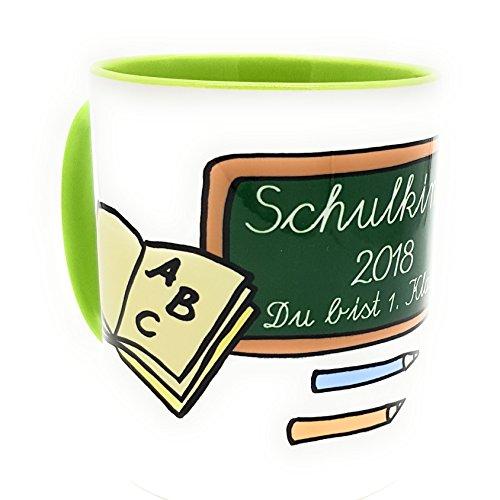 Einschulungs-Tasse Schulkind 2018 Du bist 1. Klasse zur Einschulung inkl. Geschenkverpackung Mädchen Jungen - 2