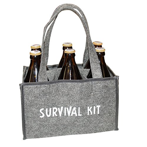Filz-Flaschentasche, Survival Kit, Männerhandtasche, Bierträger, Flaschenkorb, Handtasche
