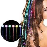 Vi.yo LED leuchten Haar Barrettes Multicolor Blinkende Haar Erweiterungen Faseroptik Haarclips Lichter Party Supplies Weihnachten Geschenk (10 STK)