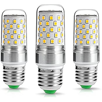 LOHAS® 9W E27 LED bombilla, Equivalente a 80Watt Lámpara Incandescente, 2700k, Luz blanca cálida, 1000 lúmenes, LED vela bombillas, Ultra Brillante LED ...