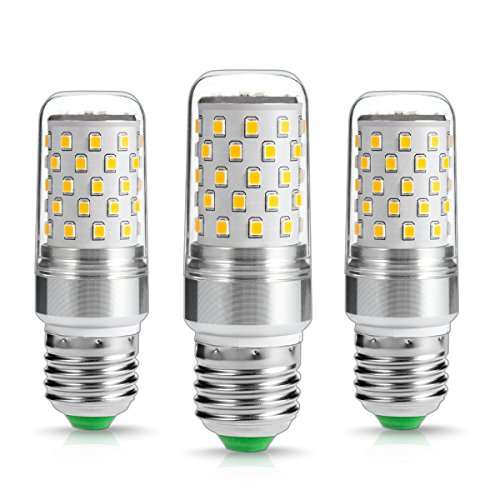 LOHAS ® 9Watt E27 LED Kerze Lampen, 80Watt Glühlampe äquivalent, 1000lm, Warmweiß 2700K, Nicht Dimmbar, Kleine Edison Schraube Kerze Glühbirnen, 220-240V AC, 3er Pack