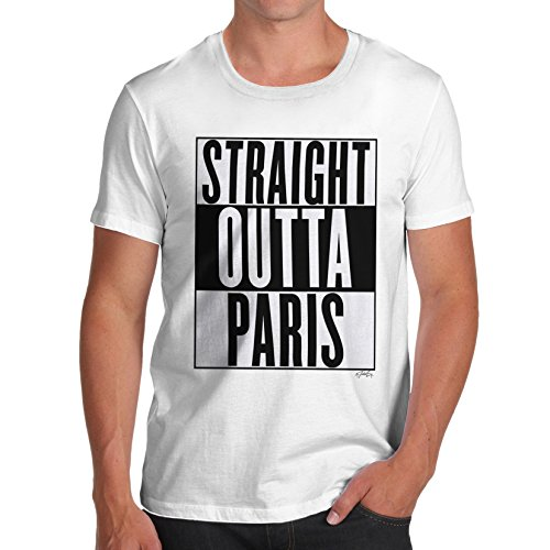 Herren Straight Outta Paris T-Shirt Weiß