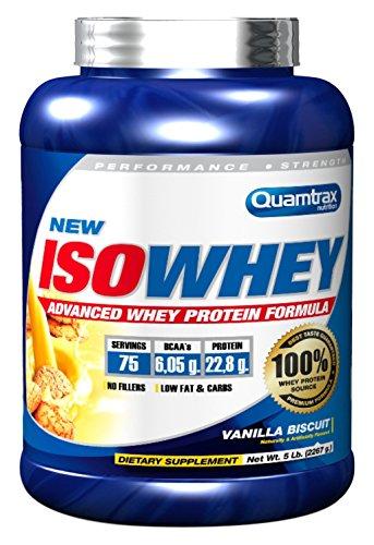 Quamtrax Nutrition Suplemento Isowhey de Sabor Galleta De Vainilla - 2270 gr