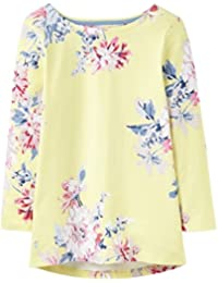 Joules Harbourprint 3/4 Length Sleeve Jersey Womens Top (Y) Lemon WHITSTABLE Floral UK14 EU42 US10
