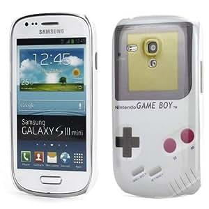 Perfect Case ® PREMIUM Hard Case Retro Nintendo Game Boy Style weis für Samsung Galaxy S3 Mini i8190 Smartphone / GBW® i8190