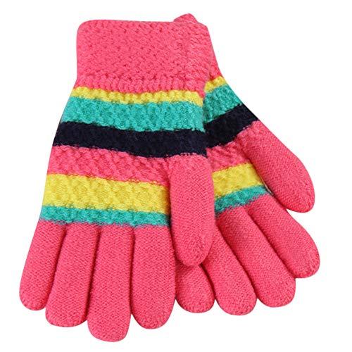 TEBAISE Weihnachten Kinder Winter Handschuhe Warm Stretchy Gestrickte Bequeme Handschuhe Fäustlinge...