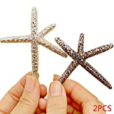 Bobury 2 pcs Pince à Cheveux pour Les Femmes Fille bébé Plage Cheveux barrete étoile de mer Mariage Bal Couleur aléatoire
