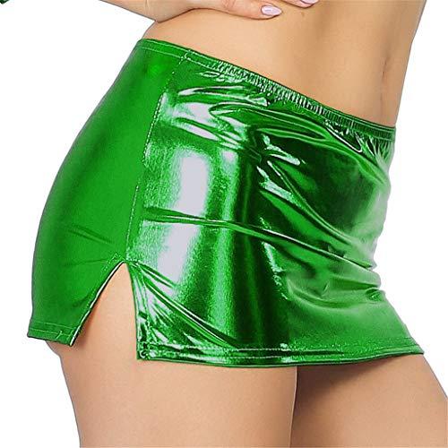 Kelry Dessous 2018 Frauen Unter sexy Dessous Lackleder Reizwäsche Lingerie Erotische Underwear(Free Size,Green)