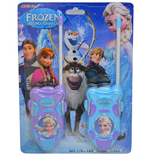 Preisvergleich Produktbild Elsa Frozen Die Film batteriebetrieben Walkie Talkie Mädchen Toy Play Set Sprechanlagen Hohe Reichweite für Outdoor/Indoor-Umgebung einfach-Design, ideal Spielzeug für und Junge Kind Kinder