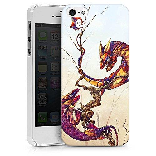 Apple iPhone X Silikon Hülle Case Schutzhülle Drachen Fabelwesen Traumwelt Hard Case weiß