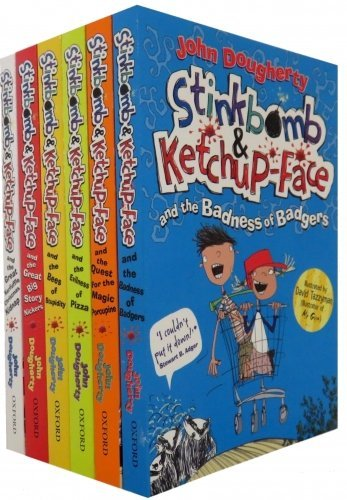 Stinkbomb and Ketchup-Face Collection John Dougherty 6 Books Set
