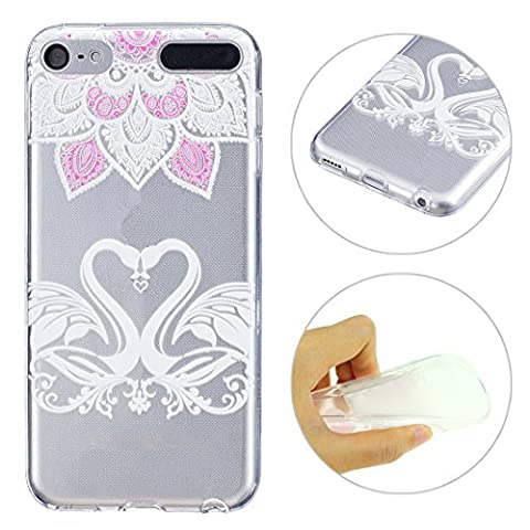 Schutzhülle für iPod Touch 5 6 Hülle Case, iPod Touch 5G / 6G Generation Handyhüllen, iPod Touch 5 6 Hülle Silikon Cover, Relief-Design, Moon mood® Relief Soft Schutzhülle für iPod Touch 5 6 Hülle Ultra Thin Dünn Weiche TPU Schutz Etui Cover, iPod Touch 5 6 Hülle Backcover Soft Etui Painted Muster Zurück Hülle Schale Tasche Protective Skin Handyhülle