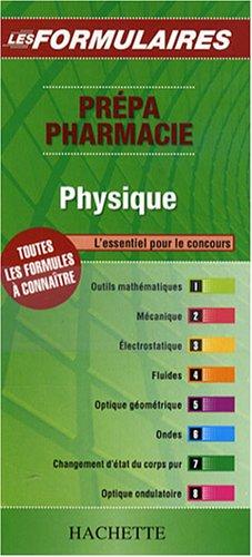 Physique : Prépa Pharmacie