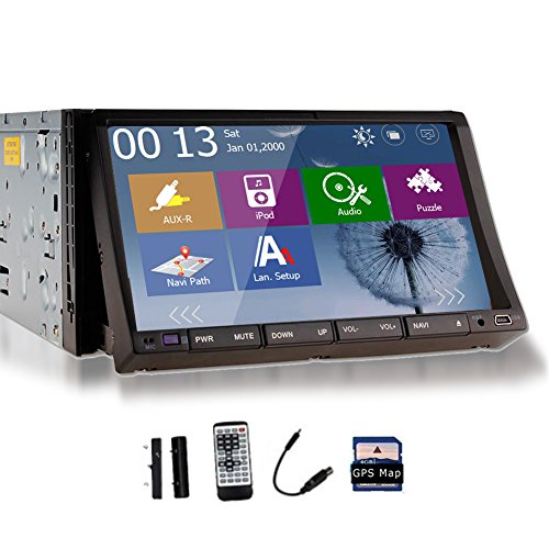 Auto Freie Kamera Eingeschlossen 2015 Autoradio New Win 8 UI Design 7 Elektronik-Zoll-Doppel-DIN im Schlag-Auto-Multimedia-DVD-Player Stereo-Radio Audio In-Dash-Touchscreen-LCD-Monitor mit DVD-CD-Receiver mp3 mp4 usb sd AMFM rds Head Unit bluetooth und GPS-Navigation HD DVD Head Unit HD