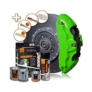 FOLIATEC 2182 Brake Caliper Paint Set, Neon Green