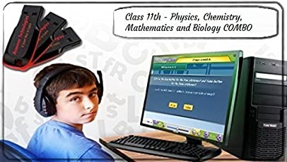 Heavenzr Technologies Class 11th PUC Science Stream COMBO (Psychics, Chemistry, Mathematics And Biology) Study Tool In Pendrive