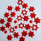 Stern, Sterne aus FILZ. Streudeko. 5 gr. ca. 30-45 Teile. Ca. 2-4 cm. In ROT rt