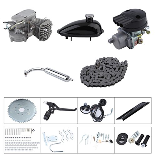 [Kinshops] Motor für Fahrrad 50cc,30km/h 2 Takt Motor Engine Bike Motor Kit Cycle Engine DIY Bicycle - Benzin Fahrrad Motor