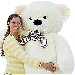 Joyfay Marca oso de peluche 100 - 200 cm gigante de la muñeca de juguete suave de la felpa de peluche oso de peluche de juguete oso peluche gigante peluches gigantes osos de peluche gigantes (200 cm, Blanco)