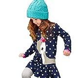 Bekleidung Longra Kinder Mädchen Herbst Kleidung Langarm Hirsch Tops t-Shirt-Kleid Röcke Kleider(2-6 Jahre) (100CM 3Jahre)