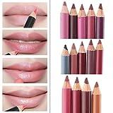 Kolylong® Lippenkonturenstift Damen 1 Set / 12 Farben Frauen-Lipliner Wasserdichtes Bleistift 15CM Kolylong