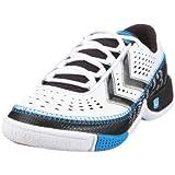 Hummel REBEL KIDS 60243 Unisex - Kinder Sportschuhe - Indoor,EU 37 weiss (white/black/chrome/diva blue)