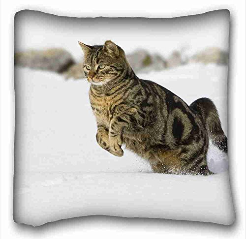 soft-pillow-case-cover-animals-cat-stripeds-spotted-snow-jumping-playful-pillowcase-cushion-cover-de