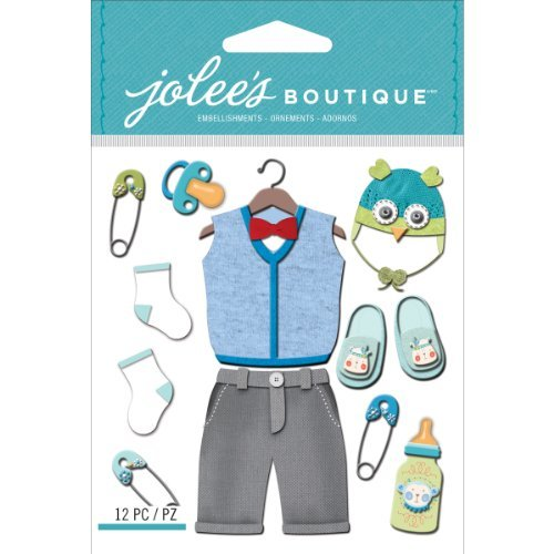 Jolee S Boutique Dimensional Stickers (Jolee's Boutique Dimensional Stickers, Baby Boy Outfit by Jolee's Boutique)