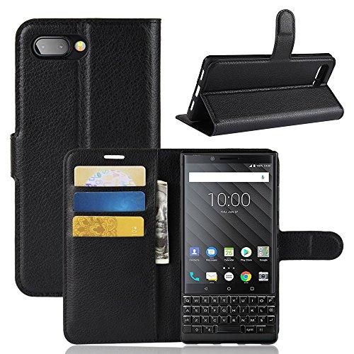 AIOIA Hülle für BlackBerry Key 2,PU Leder Hülle Tasche Schutzhülle Handyhülle für BlackBerry Key 2