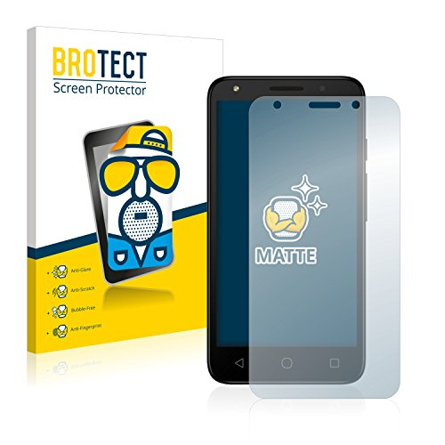 BROTECT Entspiegelungs-Schutzfolie kompatibel mit Alcatel Pixi 4 (5.0) 3G (2 Stück) - Anti-Reflex, Matt