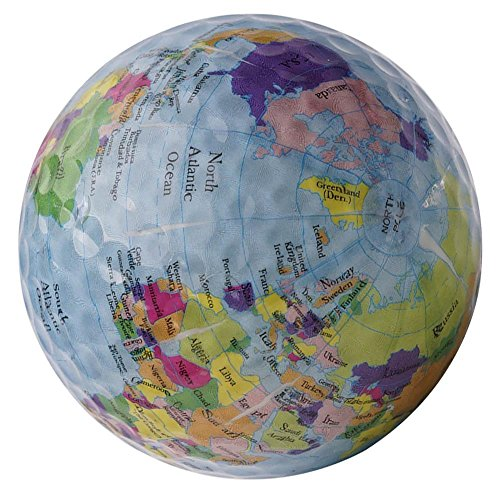 cloudwhisper 1Globe Karte Golf Bälle Praxis Golfbälle Weltkarte Ball -