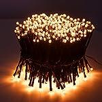 SnowEra Catena Luminosa a Lampadina con 600 LED - Illuminazione Natalizia per Interni ed Esterni con Timer e Regolazione della Luminosità