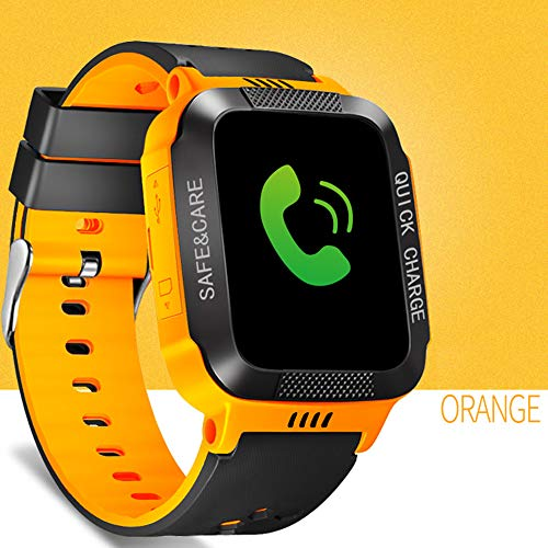 YIFAFA Relojes Inteligentes, Reloj de Pulsera para niños Seguridad Anti-perdida GPS Tracker SIM Call Phone Relojes de Pulsera Los Mejores Regalos de cumpleaños