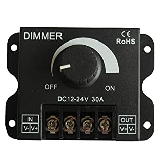 Tecnofapp - accessori led Single Metal Dimmer Controller Brightness from 0-100% LED Colour DC12-24V 30A