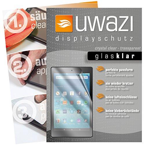 uwazi 3X Glas-klare Schutzfolie für Amazon Fire HD 8 (Modell 2017) Displayschutzfolie I Folie I Anti Fingerabdruck I Anti Kratzer -