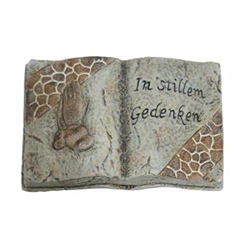 ekoration Grabschmuck Grabstein in Buchform in aller Stille Gedenken Grab NEU, Modell / Charakter:In stillem Gedenken (Charaktere In)