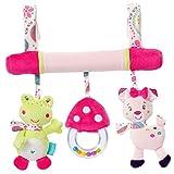 Kinderwagen Spielzeug Kinderwagenkette Rasseln Rassel Baby Spielzeug für Kinderwagen Kette Wagenkette - Frosch, one size
